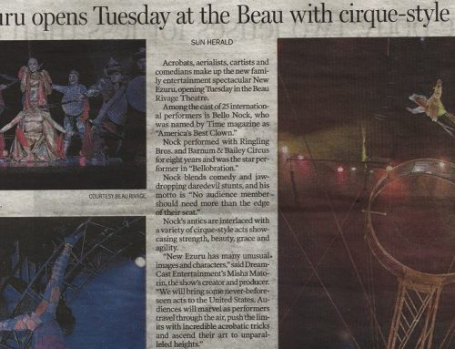 Sun Herald: New Ezuru Opens Tuesday at the Beau with cirque-style acts
